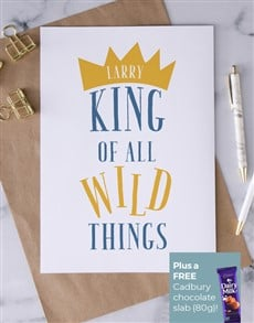 cards: Personalised King Of Wild Things Card!