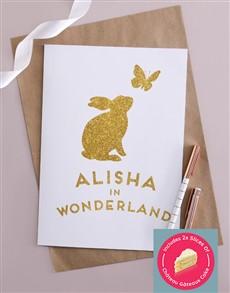 cards: Personalised Wonderland Bunny Card!