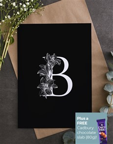 cards: Personalised Lily Initial Greeting Card!