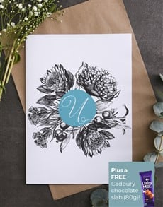 cards: Personalised Protea Bloom Card!