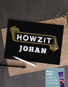 cards: Personalised Howzit Greeting Card!