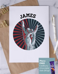 cards: Personalised Rock On Greeting Card!