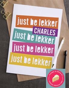 cards: Personalised Just Be Lekker Card!