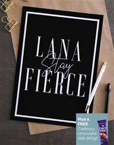 cards: Personalised Stay Fierce Card!