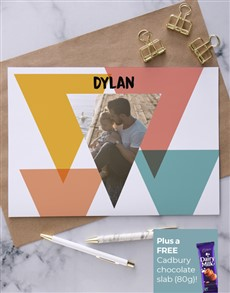 cards: Personalised Abstract Triangle Image Card!