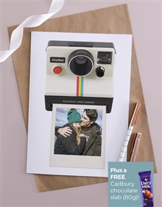 cards: Personalised Polaroid Picture Card!