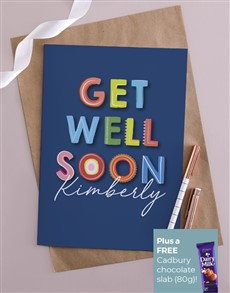 cards: Personalised Colourful Get Well Card!