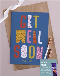 cards: Personalised Get Well Soon Abstract Card !