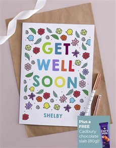 cards: Personalised Bright Get Well Soon Card!