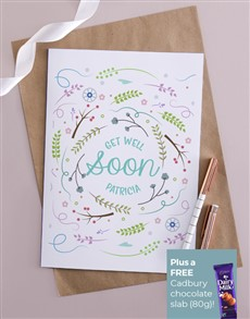 cards: Personalised Get Well Abstract Nature Card!