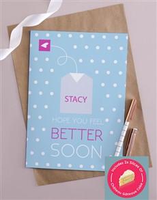 cards: Personalised Get Better Tea Bag Card!