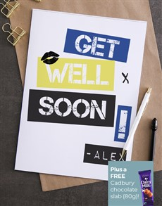 cards: Personalised Get Well Soon Card!
