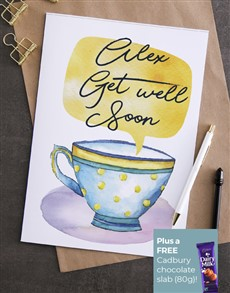 cards: Personalised Get Well Tea Cup Card!