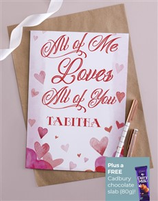 cards: Personalised All Of Me Card!