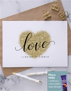 cards: Personalised Glitter Heart Card!