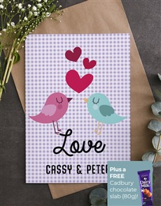 cards: Personalised Gingham Love Card!