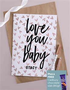 cards: Personalised Love You Baby Card!