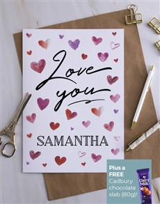 cards: Personalised Love You Heart Card!