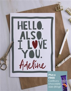 cards: Personalised Hello I love You Card!