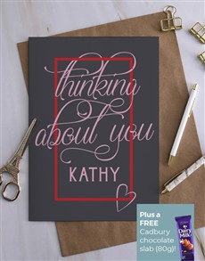 cards: Personalised Thinking About You Card!