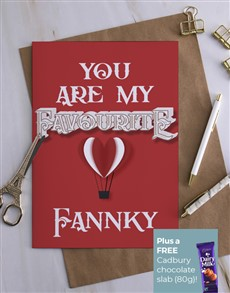 cards: Personalised You Are My Favourite Card!