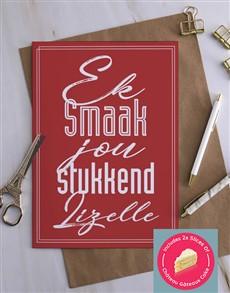cards: Personalised Ek Smaak Jou Stukkend Card!