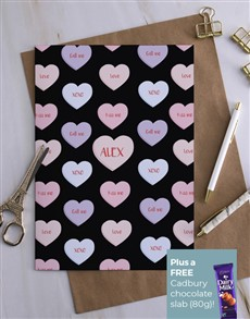 cards: Personalised Pretty Heart Design Card!