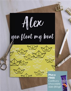 cards: Personalised You Float My Boat Card!