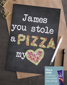 cards: Personalised Stole My Pizza Card!