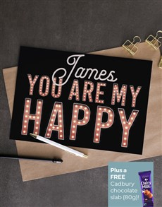 cards: Personalised You Are My Happy Card!