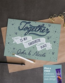 cards: Personalised Together Is My Favourite Card!