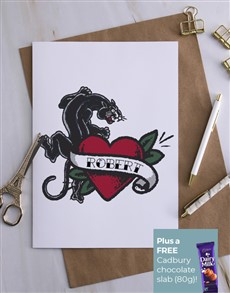 cards: Personalised Wild Cat Card!