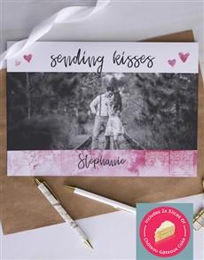 cards: Personalised Sending Kisses Card!