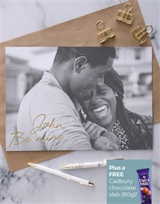 cards: Personalised Grey Scale Photo Love Card!