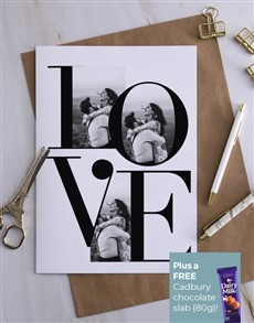 cards: Personalised Love Spelled Out Card!