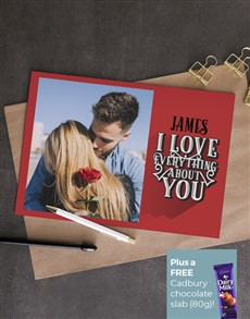cards: Personalised Everything About You Photo Card!