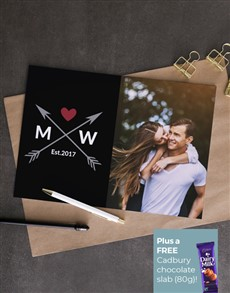 cards: Personalised Photo Love And Arrow Card!