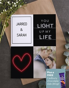 cards: Personalised You Light Up Life Card!