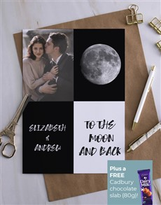 cards: Personalised Moon And Photo Card!