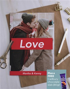 cards: Personalised Love Photo Kiss Card!