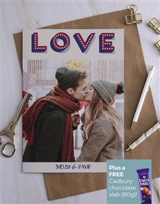 cards: Personalised Love Sign Picture Card!