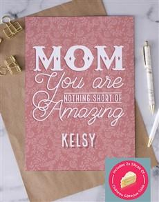 cards: Personalised Nothing Short Of Amazing Card!