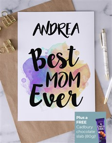 cards: Personalised Best Mom Ever Card!