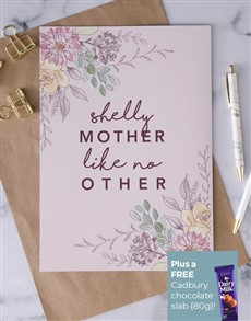 cards: Personalised Mother Like No Other Card!