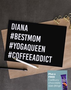 cards: Personalised Hashtag Best Mom Card!