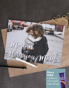 cards: Personalised I Love You Mom Photo Card!