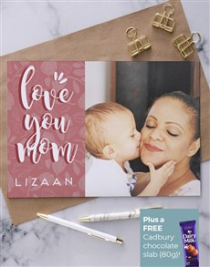 cards: Personalised Love You Mom Image Card!