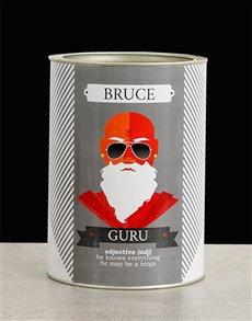 gifts: Personalised Guru Bro Bucket!