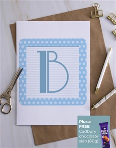 cards: Personalised Initial Baby Block Card!