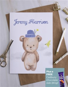 cards: Personalised Tiny Teddy Card!